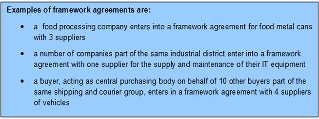 Framework Agreements